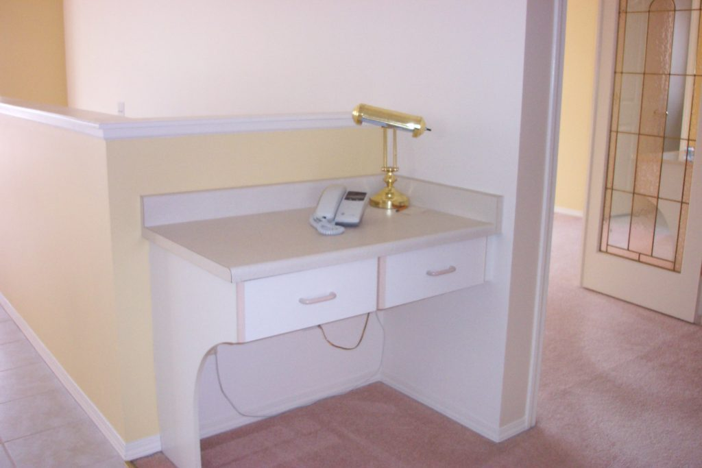 phone table in 90s house