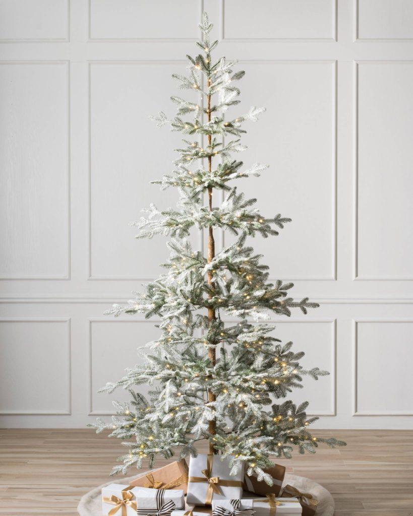 Beautiful flocked tree from Balsam Hill - The Ginger Home Christmas