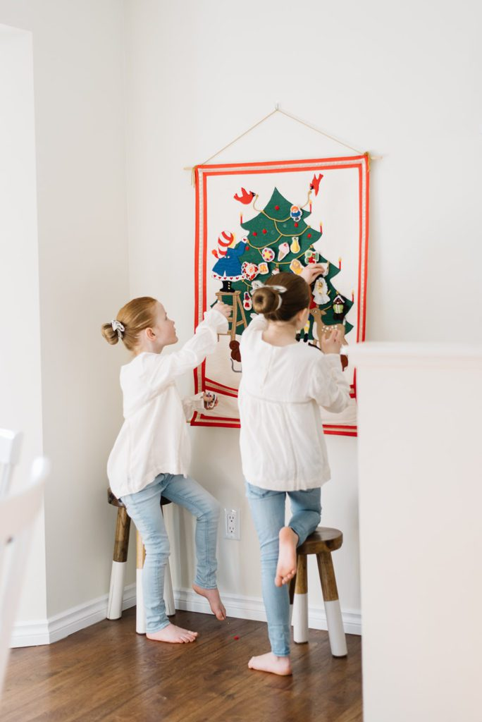 A vintage handmade advent calendar keeps Christmas traditions alive at The Ginger Home