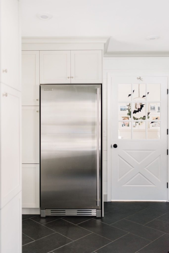 Extra freezer and pantry storage in the mudroom