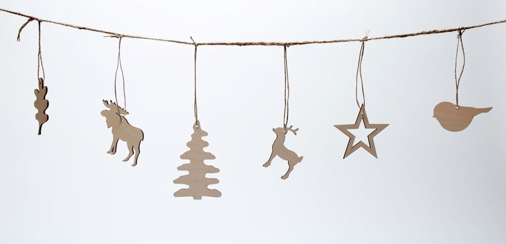Wooden ornaments from Pi\'lo-The Ginger Home simple Christmas