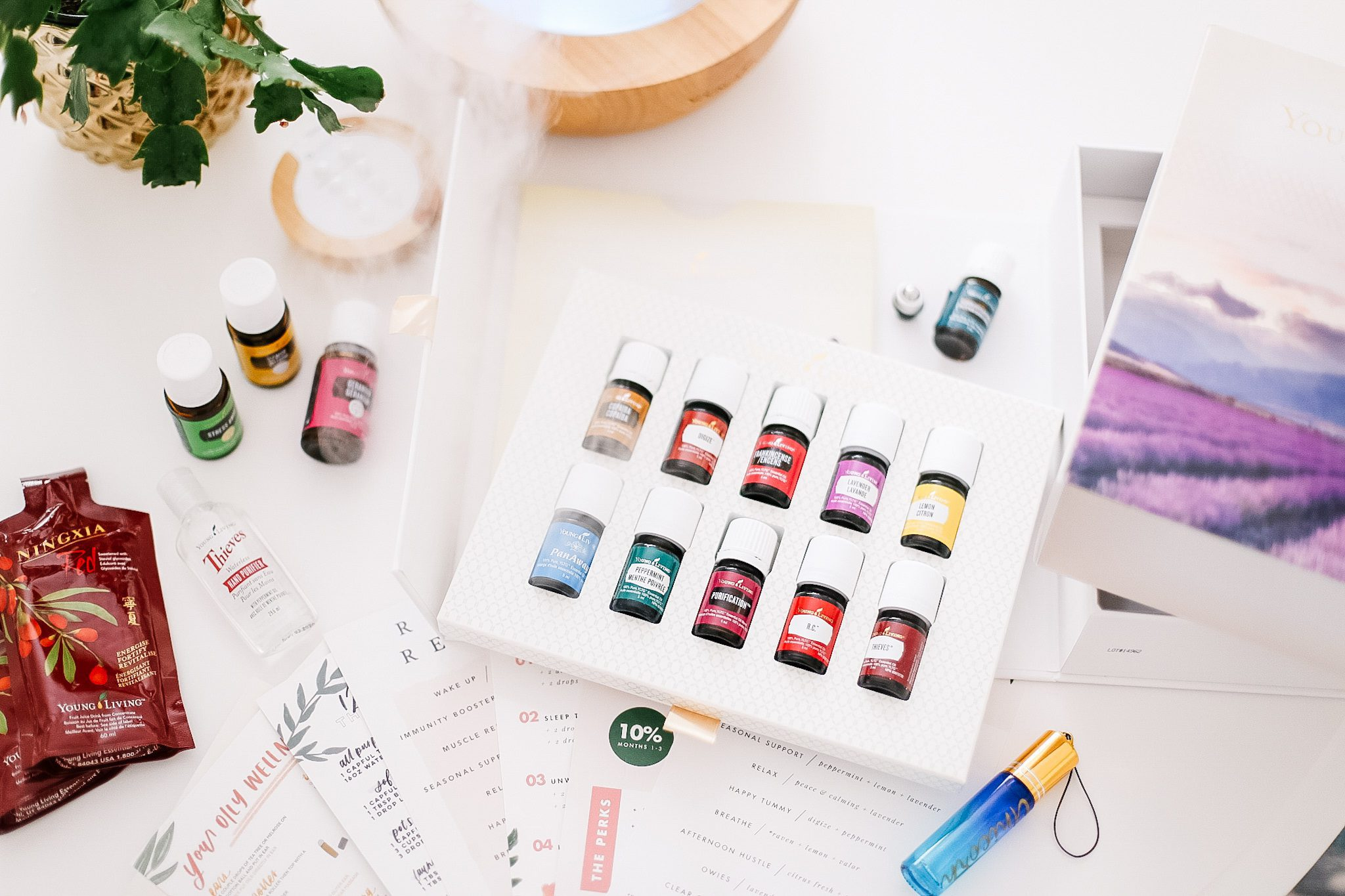 young living starter kit with 12 essential oils