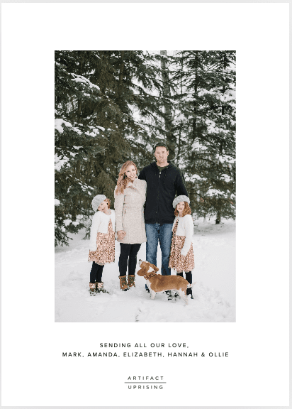 family post with dog