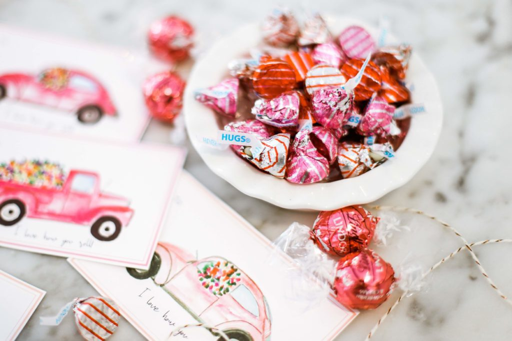 bowl of pink and red candies
