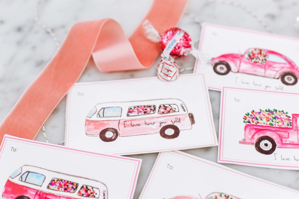 I love how you roll valentine card