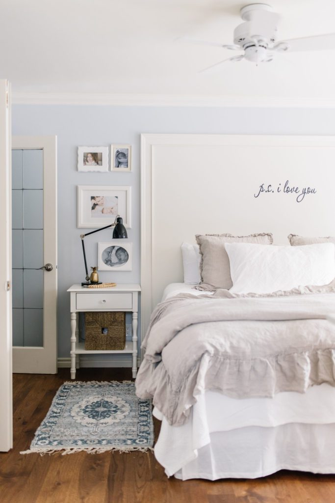 Organizing and decorating a small master bedroom