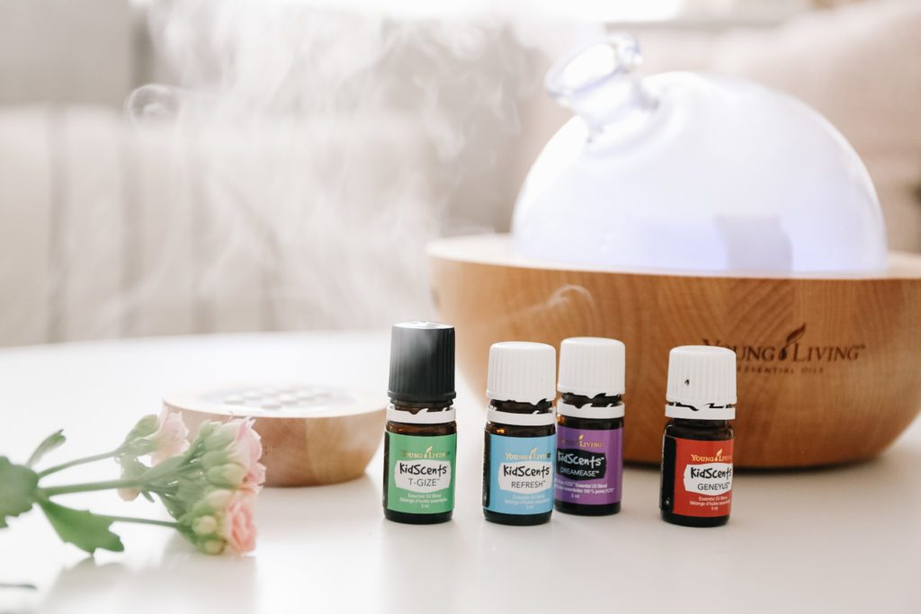 colorful bottles of essential oils
