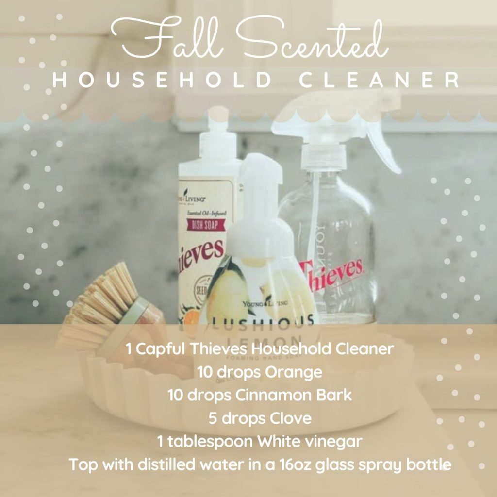 fall scented household cleaner recipe