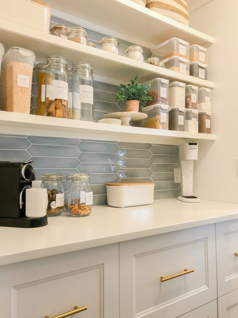 counter top in pantry