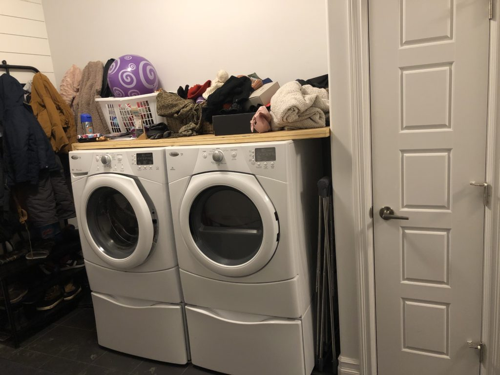 Washer and dryer in un renovated space