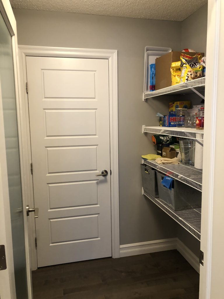 Pantry space before renovation