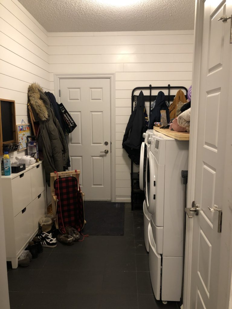 Mudroom and Laundry space before renovation