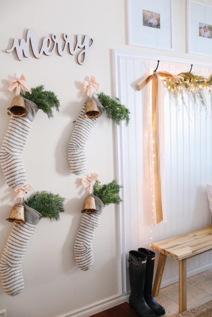 Stockings hung on the wall