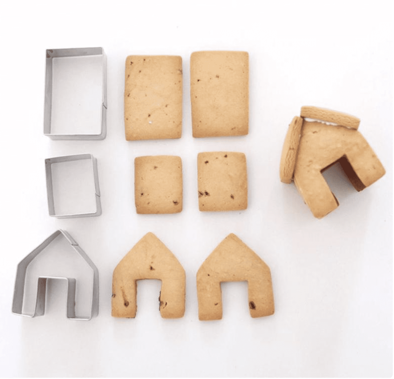 Christmas Cookie Cutters Mini Gingerbread House Cutters | Etsy