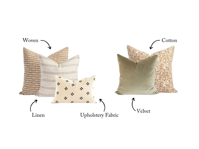 pillows of different textures